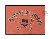 Harley-Davidson® Boys Baby Little Rebel Skull Interlock Beanie Orange *CIJ* SG42-0266