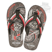 Harley-Davidson® Boys Youth Motorcycle Bike with Striped Strap Flip Flops