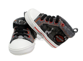 Harley-Davidson® Boys Baby Camo B&S Print Canvas High Top Pre-Walkers