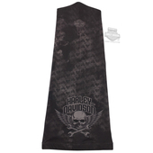 Harley-Davidson® Mens Wrenched Skull with Wings Black Polyester Speed Sock