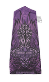 Harley-Davidson® Womens Angelic B&S Purple Polyester Speed Sock