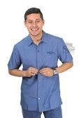 Harley-Davidson® Mens Checked In Yarn Dyed Navy Short Sleeve Woven Shirt by Tori Richard®