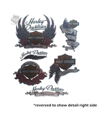 Harley-Davidson® Womens Feather Assortment Foil Print Temporary Tattoos