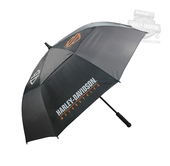 Harley-Davidson® B&S H-D Golf Nylon Black Umbrella