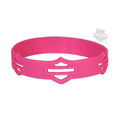Harley-Davidson® Blank B&S Debossed Silicone Pink Wristband
