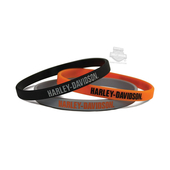 Harley-Davidson® H-D Name Debossed with Ink Fill Set of 3 Wristband