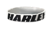 Harley-Davidson® Strong H-D Debossed Ink Fill Grey Wristband