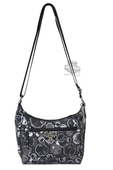 Harley-Davidson® Womens Willie G Skull Coated Canvas Hobo Grey Cotton Bag