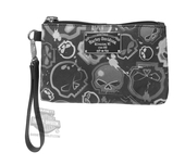 Harley-Davidson® Womens Willie G Skull Coated Canvas Grey Cotton Pouch