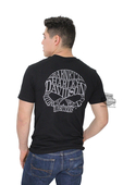Harley-Davidson® Mens Willie G Skull Barnett Harley Exclusive Grey Ink Black Short Sleeve T-Shirt WGBHD-003