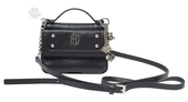 Harley-Davidson® Womens H-D Crystal Pocketbook Black Leather Purse