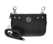 Harley-Davidson® Womens H-D Crystal with Studs Black Leather Hip Bag