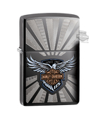 Harley-Davidson® Mens 115th Anniversary Eagle Black Ice® Zippo Lighter