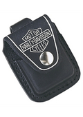 Harley-Davidson® Zippo® Lighter Pouch B&S Black Leather with Loop
