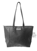 Harley-Davidson® Womens Hand Tooled Pattern Black Leather Tote Bag