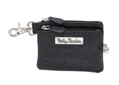 Harley-Davidson® Womens Willie G Skull Embossed Black Leather Coin Pouch