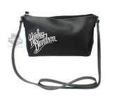 Harley-Davidson® Womens H-D Name Embroidered Crossbody Black Leather Purse