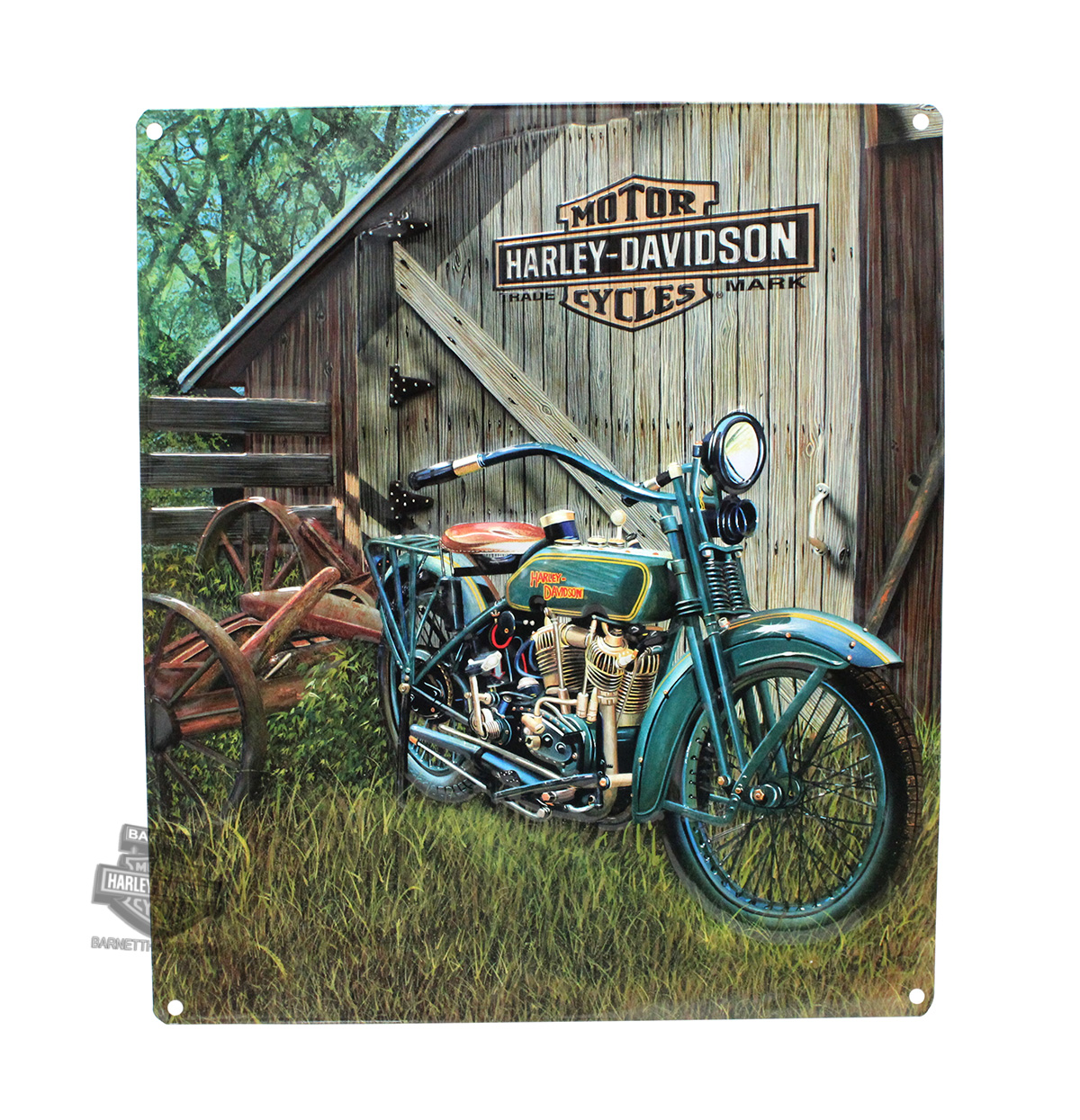 2010531 Harley Davidson 174 1923 F Head Twin Tin Sign
