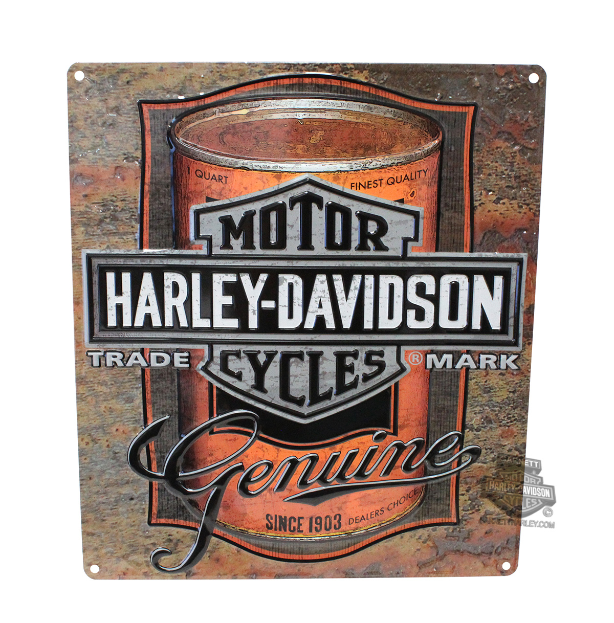 2010931 Harley Davidson Mens Oil Can Label With Trademark B S Tin