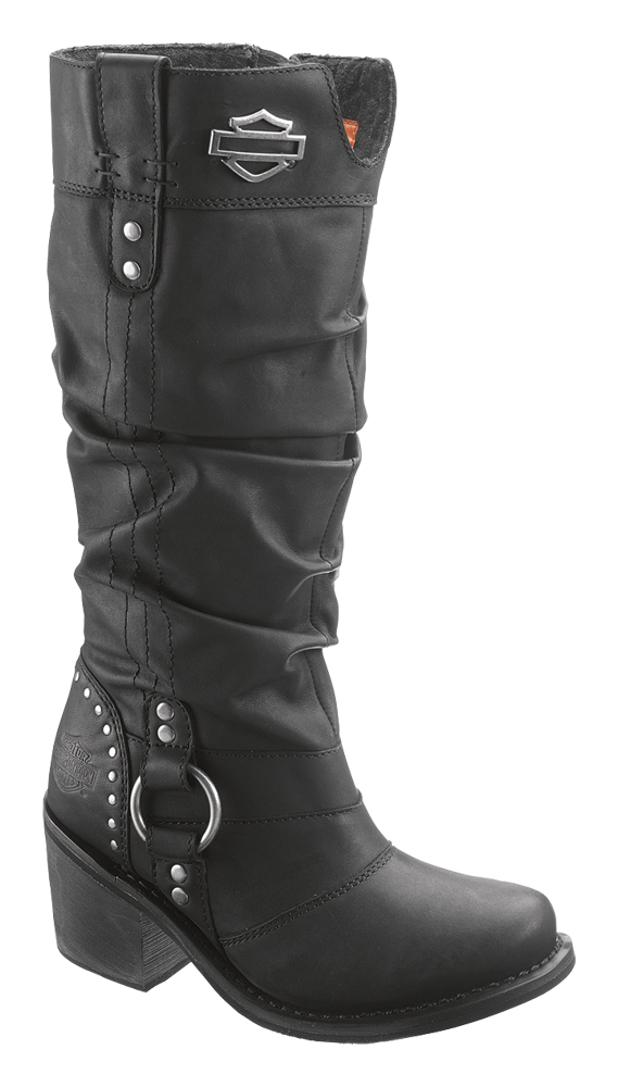 83562 harley davidson 174 womens black leather high
