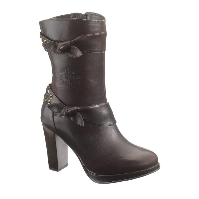 Perfect A Sleek And Stylin Look From The Womens Harley Collection  Here Is The Harley Davidson Ayda Boot Constructed From Full Grain Leather For The Upper, This Boot Has A Feature That Stands It Apart  The Top Of The Shaft Can Either Be Collared