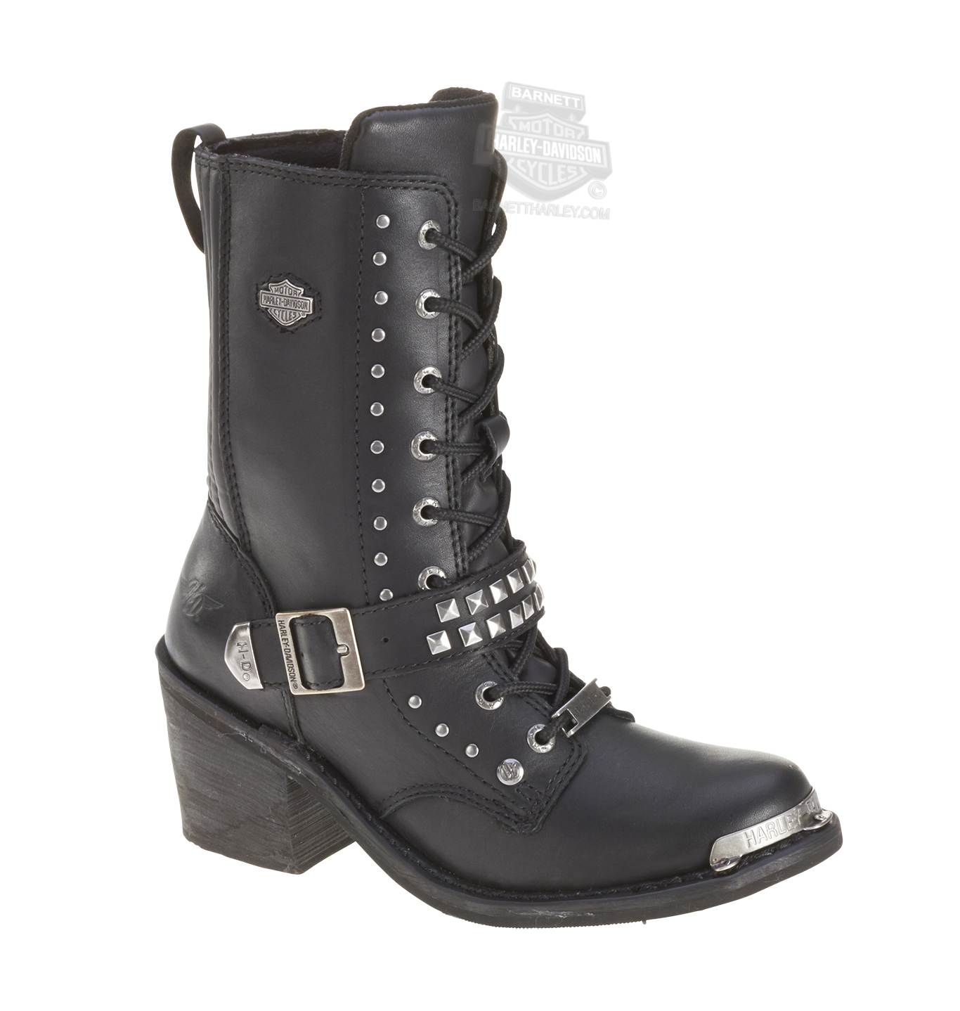 87046 harley davidson 174 womens angie black leather mid