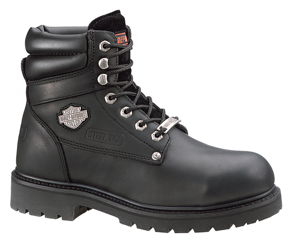 91013 harley davidson 174 mens 6 steel toe crankshaft black