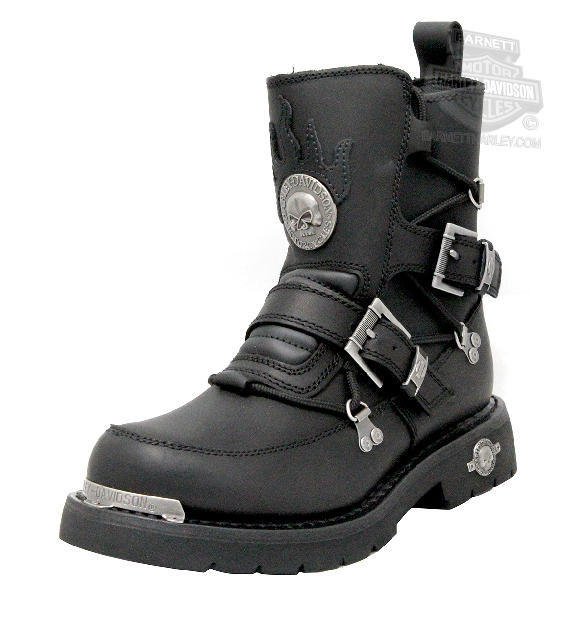 94167 - Harley-Davidson® Mens Distortion Black Mid Cut Riding Boot ...