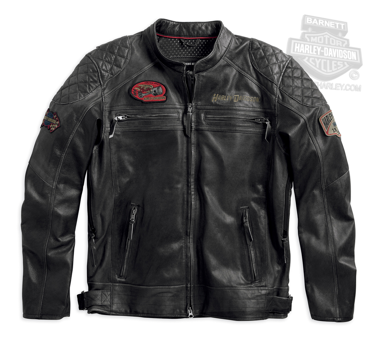 Harley-Davidson® Mens Chain Guard Washed Lightweight Black Leather ...