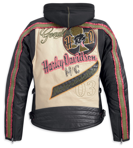 97126-13vw - harley-davidson® womens pacer hooded 3-in-1