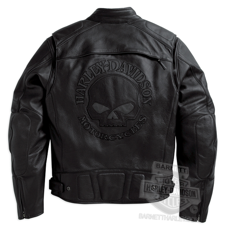 Harley davidson skull leather jacket