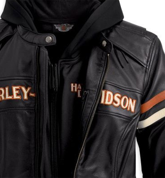 98142-09vw - harley-davidson® womens miss enthusiast 3 in 1 black