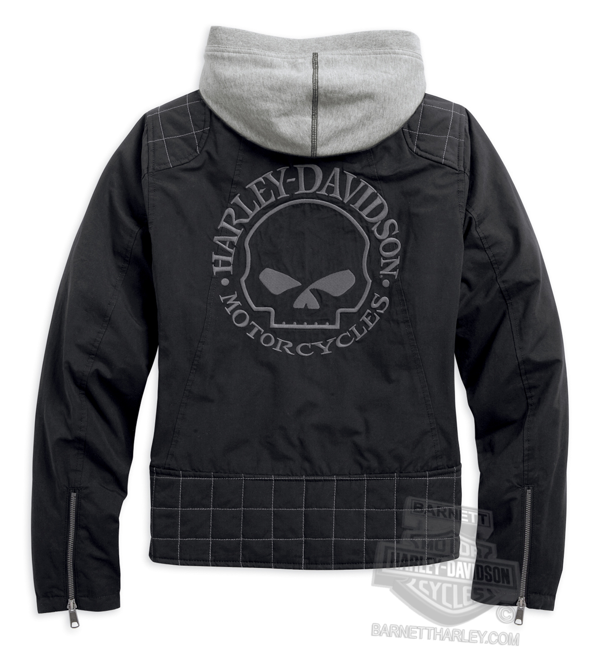 Harley Davidson Womens Willie Skull Quilted