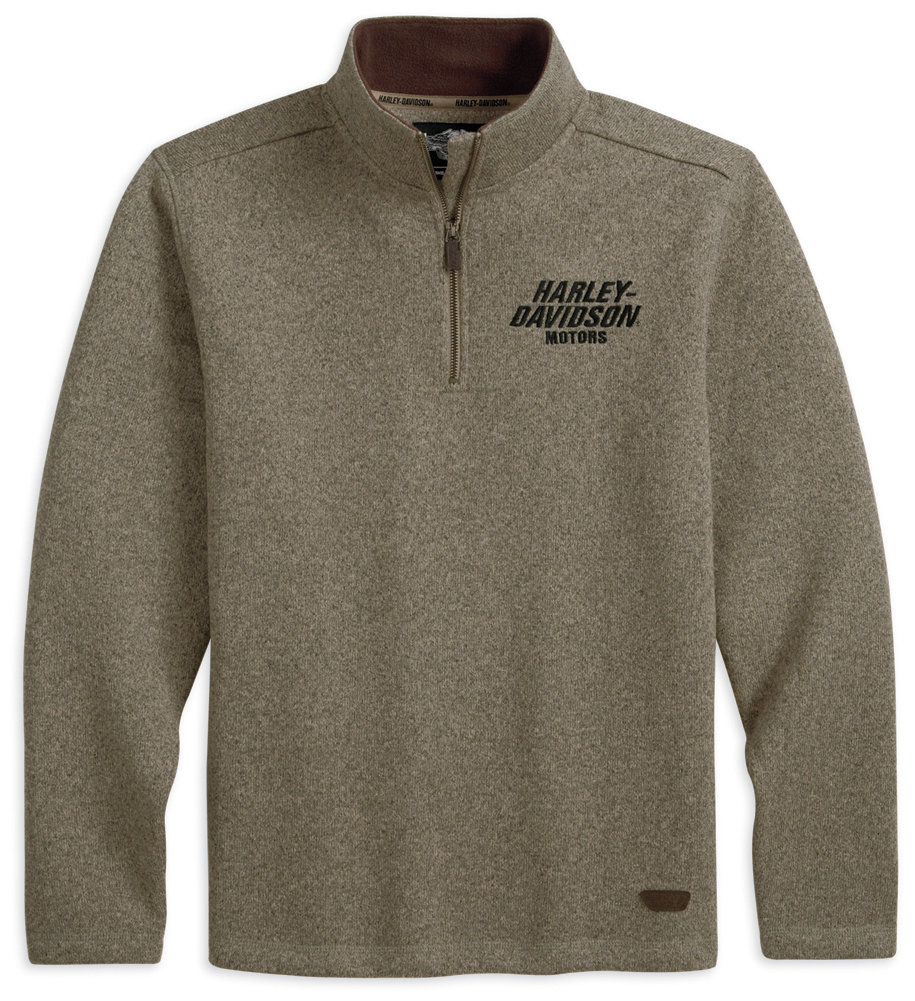 99041-13VM - Harley-Davidson® Mens Sherpa Fleece Pullover Brown ...