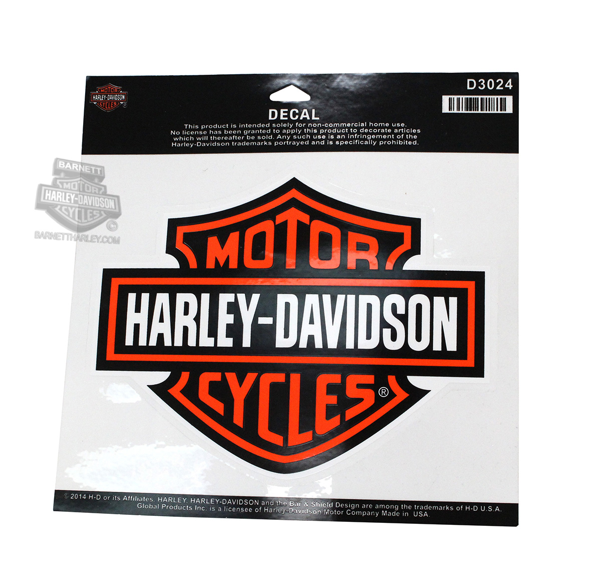 Harley Davidson 174 B Amp S Large Decal D3024
