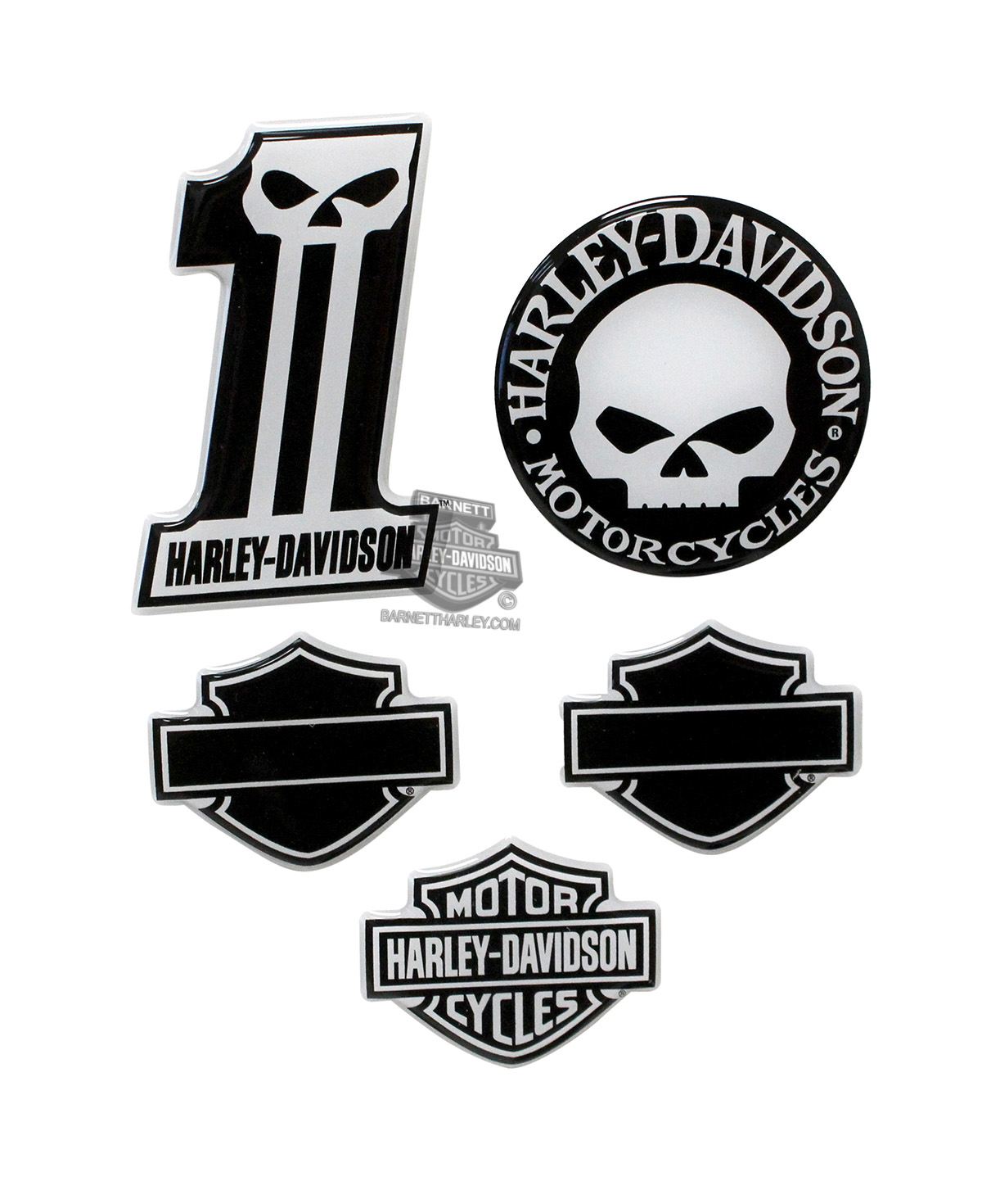 dc1246 - harley-davidson® midnight assortment dome decal sheet