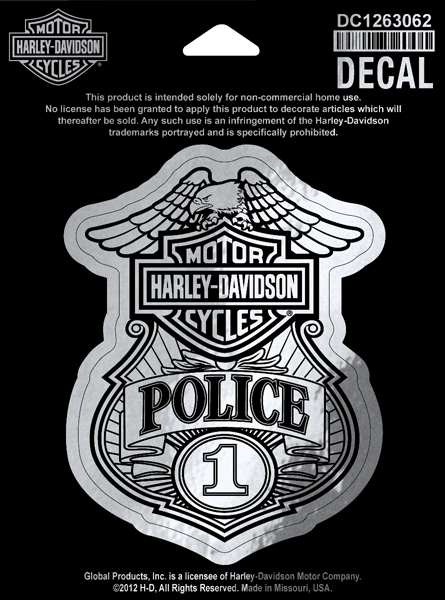 Dc1263062 Harley Davidson 174 Police Original Small Decal