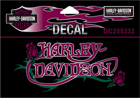 Dc255332 Harley Davidson 174 Nouveau Rose Small Decal
