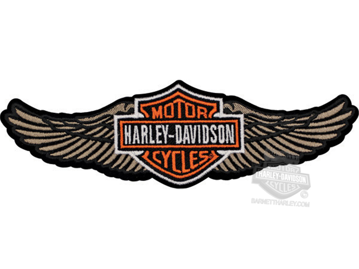 Harley Davidson 174 Tan Straight Wing B Amp S Large Patch