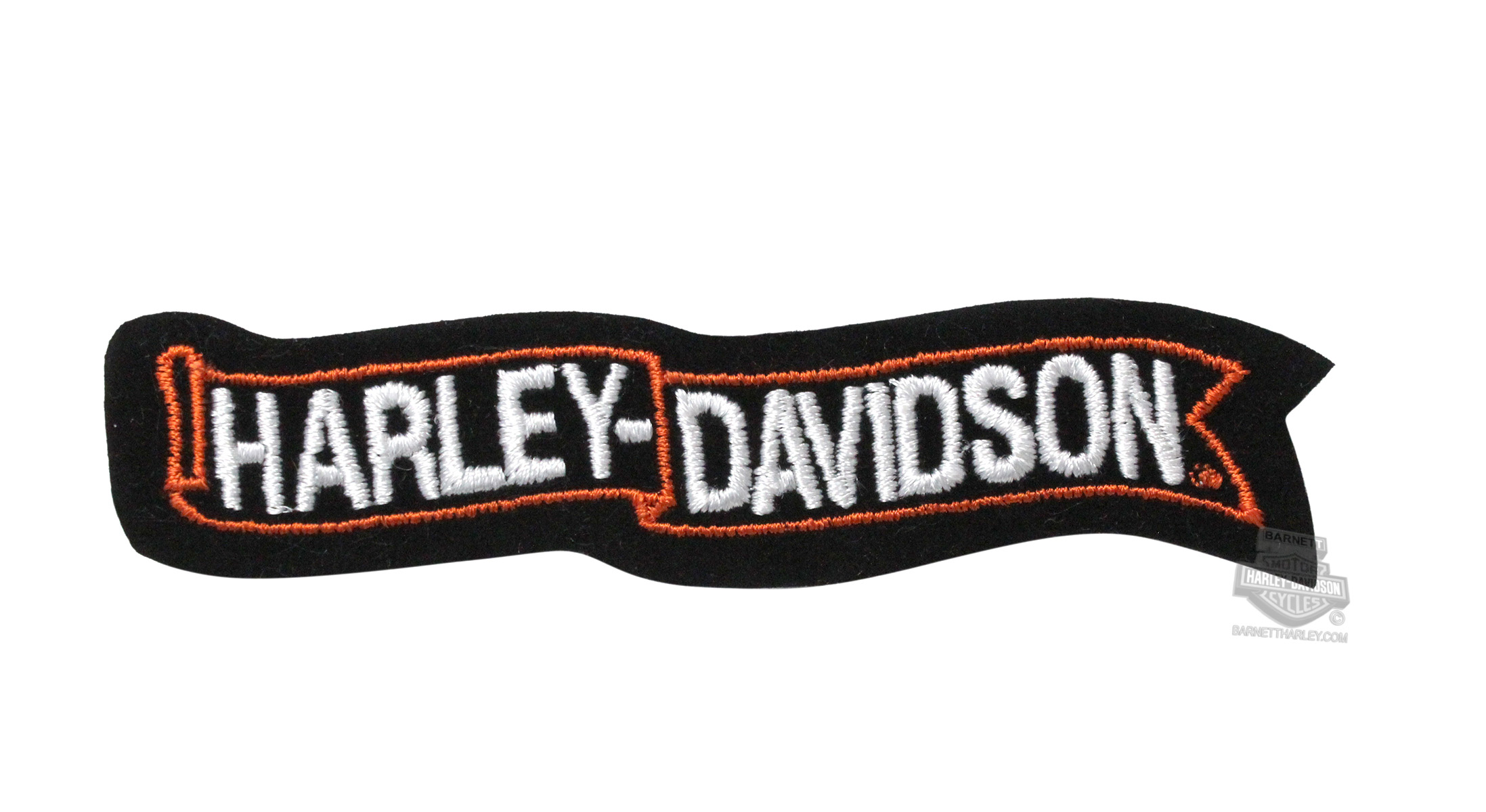 emb303302 - harley-davidson® waving banner small patch - barnett