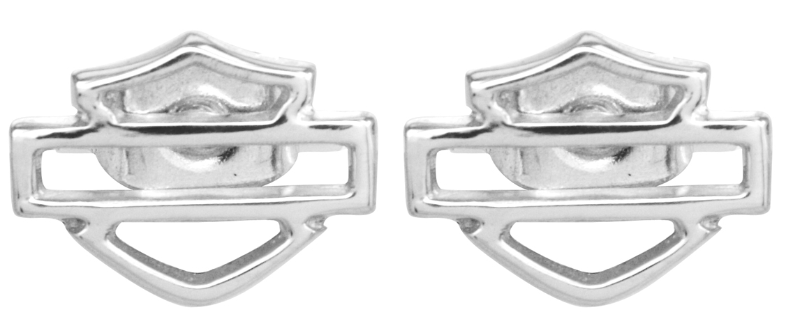 Harley-Davidson® .925 Silver B&S Outline Post Earring