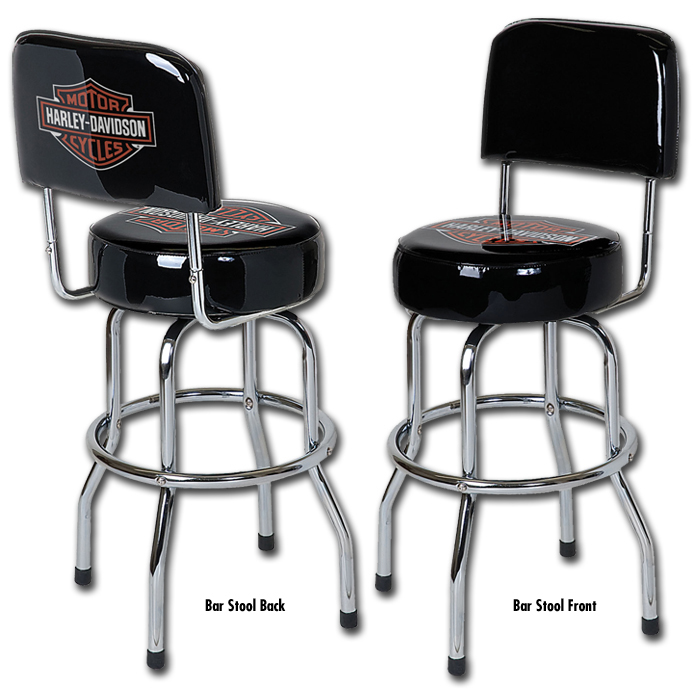 Hdl 12209 Harley Davidson Low Rider Bar Shield Bar Stool W Backrest Barnett Harley Davidson