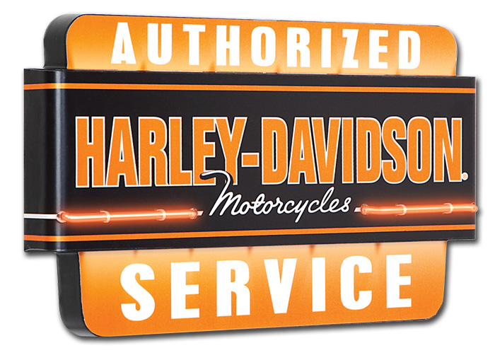 hdl-15403 - harley-davidson® authorized service neon sign