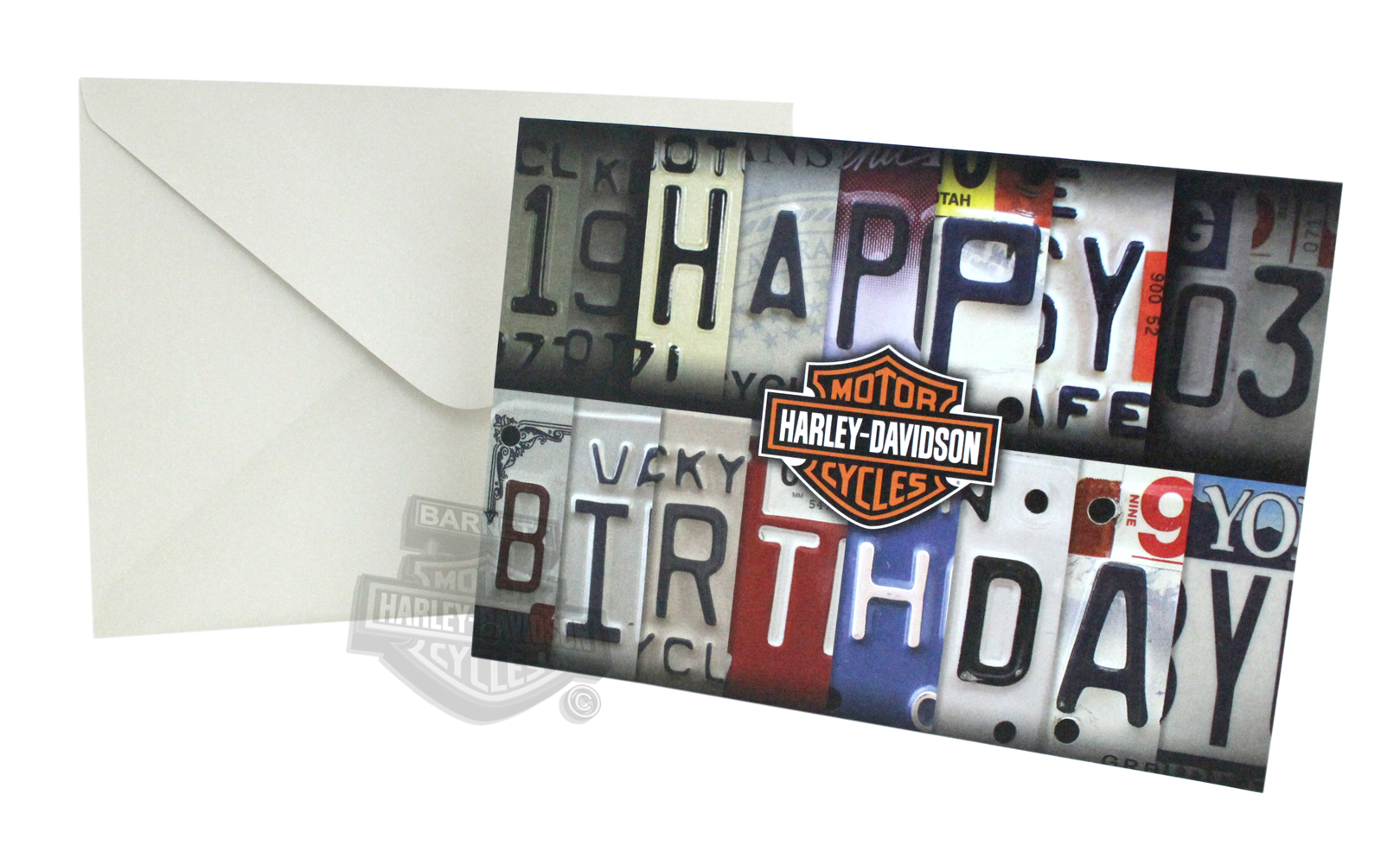 Hdl 20002 harley davidson license plate embossed birthday harley davidson license plate embossed birthday greeting card hover to zoom bookmarktalkfo Image collections