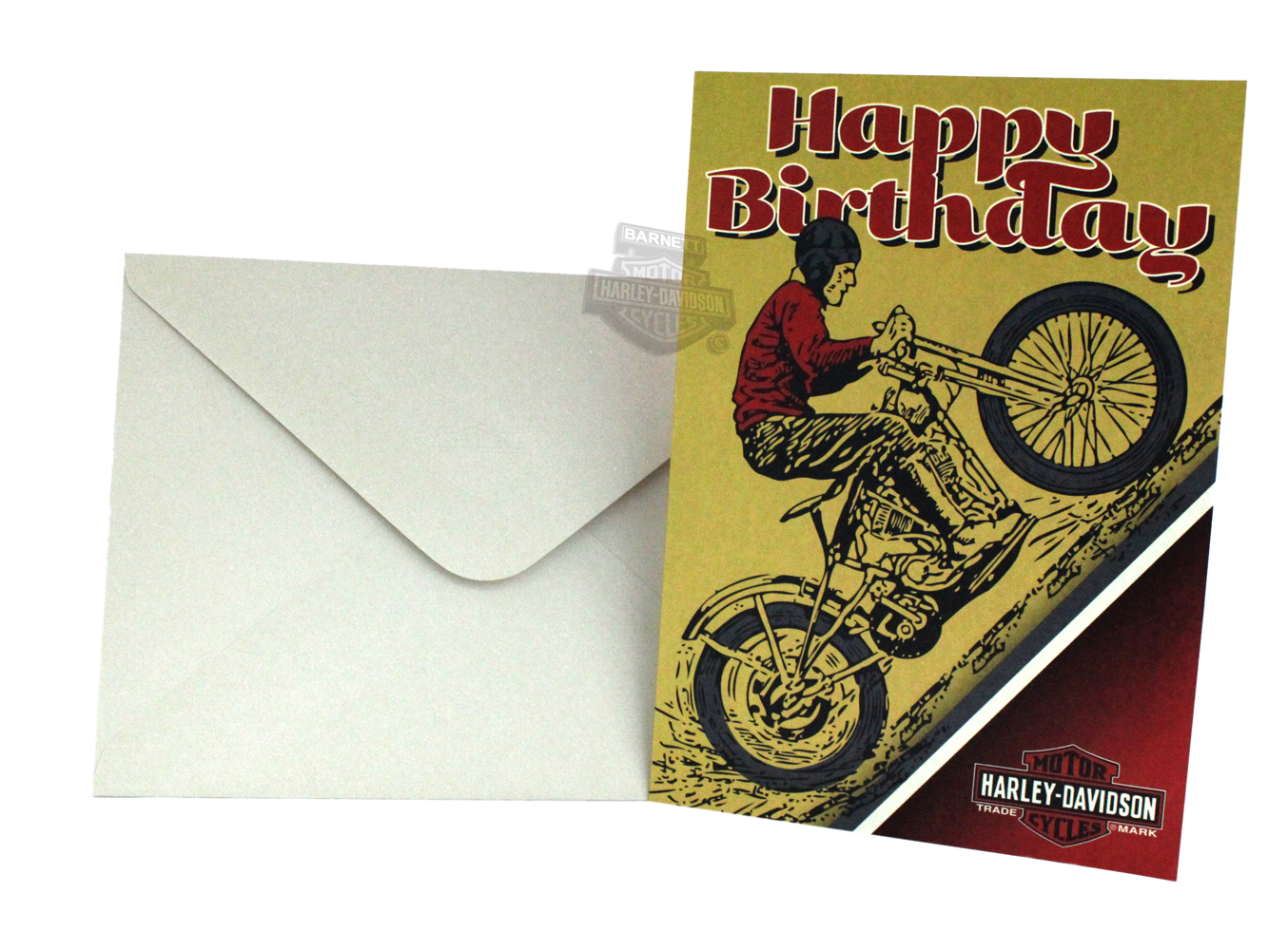 Hdl 20005 harley davidson 174 not over the hill birthday greeting card