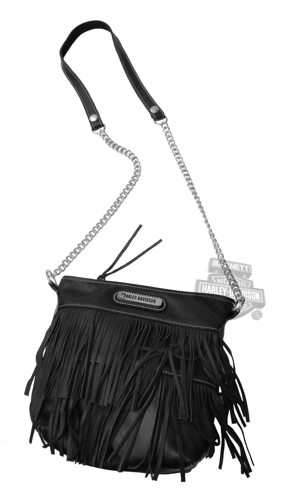 hfb3 - harley-davidson® womens fringe with chain strap crossbody