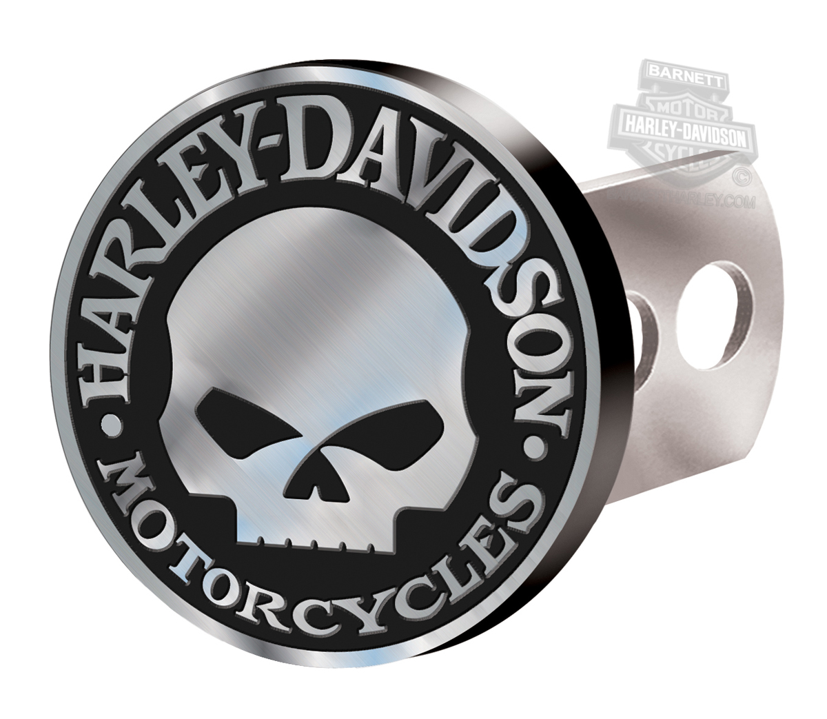 Harley-Davidson® Hitch Plug Willie G Skull Brushed