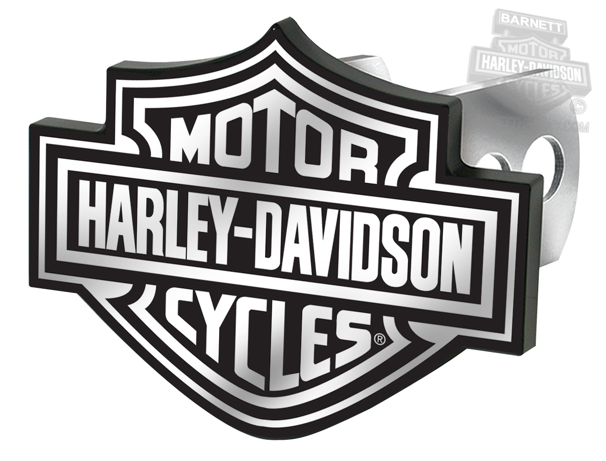 Harley-Davidson® Black/White B&S Logo Hitch Plug