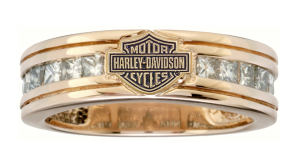 R474d Harley Davidson Yellow Gold W Diamonds Womens Ring Image 600 X 326
