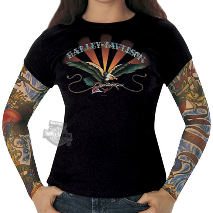 Harley davidson shirts joy studio design gallery best for Tattoo shirts long sleeve